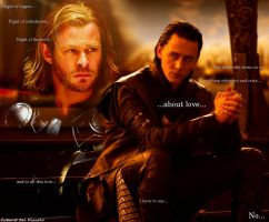 Loki and Thor - Not for Us by CABARETdelDIAVOLO