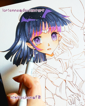 +Sailor Saturn WIP+ by larienne