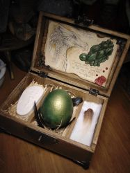 Wyvern Specimen Curio Box by BurnedRavenTales