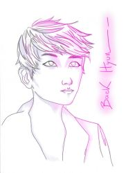 Pink_Baek Hyun by Last-Sheep