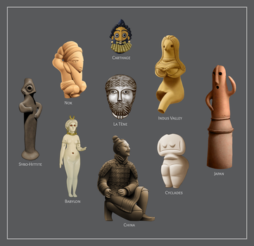 Ancient Human Figures (study) by yoctoparsec