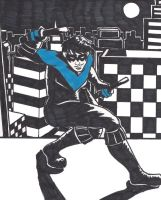Nightwing Noir (...kinda) by TheUnsungTrouvere