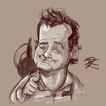 Bill Murray Sketch by Chivohit