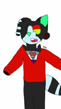 Red and Green eyes [Art trade] by peridot-the-gem-8