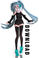 Miku a Dancing girl + Dl by kitten-S