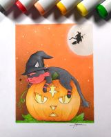 Halloween Litten by WolfJayden