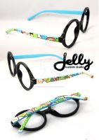 Rainbow Geeky Glasses by PoppinCustomArt