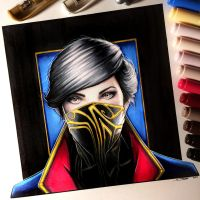 Emily Kaldwin - Dishonored 2 Drawing by LethalChris