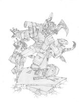 Soundwave with Cassetticons by GurgleSploit