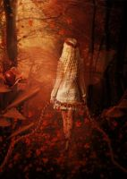 The autumn leaves fairy by babsartcreations