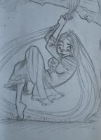 Rapunzel sketch by SAVAPER