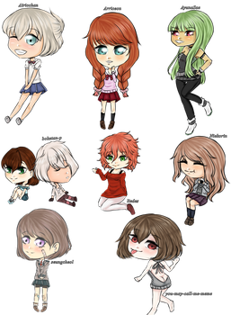 | Gift | Bunch of chibis by Goldstargirl