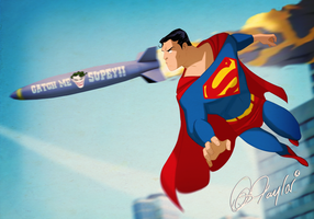Catch Me If You Can, Superman! By Des Taylor by DESPOP