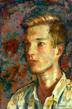 Christopher oil on copper by Paintsmudger