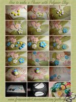 Tutorial How to make a Flower with Polymer Clay by FrancescaBrt