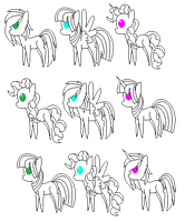 Adoptable base (With manes) by Evertide-Song