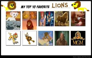 My Favorite Lion Characters by KessieLou