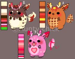 Chibeans deers adoptables 3 [ CLOSED/SOLD OUT] by Aunty-chick