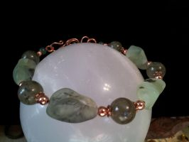 Prehnite And Labradorite With Copper Bracelet by BacktoEarthCreations