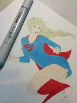 Super Girl- base color for dress by Nana-Marchae
