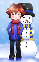 Look! I built a snowman! by fryzylstyk