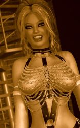 Charis - Leather and Chains Closeup 2 by 007Fanatic
