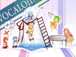 vocaloids botoru together by Rmblee