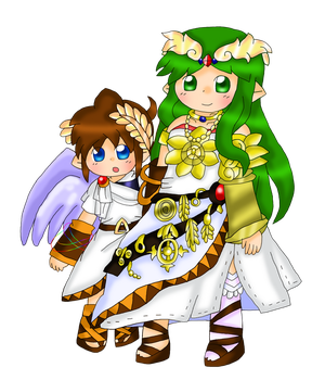 Gilster262 63 8 Pit And Palutena Portraits By Purplemagechan
