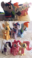 The Mane Six by Sophillia