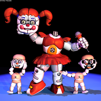 C4d | Circus Baby - Heads up! by The-Smileyy