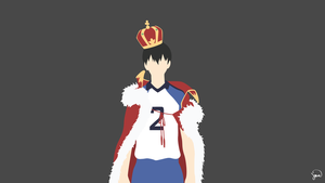 Kageyama Tobio (Haikyuu!!) Minimalist Wallpaper by greenmapple17