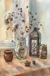 Still life with owl by AnMikrAn