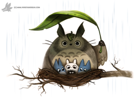 Daily Painting #911 - Totorooooo by Cryptid-Creations