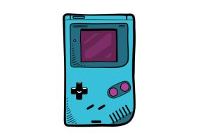 Game Boy Video Game Console Vector Drawing by superawesomevectors