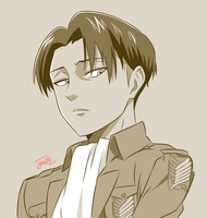Monochrome Levi by step-on-mee