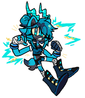 Electric Blue by DINKY-INK
