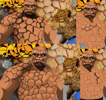 mcu FF's Ben Grimm/the Thing skin concept wip by Needham
