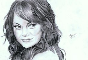 Emma Stone by MichaelWarrenTaylor