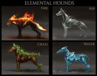 Elemental Hounds by Snook-8