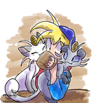 Breakfast With Meowth by JB-Pawstep