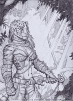 Barbarian Teiirka Commission by StriderDen