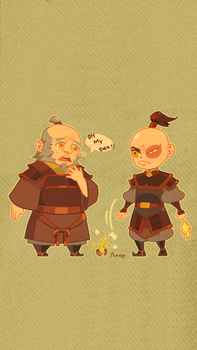 Firebender Aaa 1 0 Uncle Iroh And Zuko IPhone Wallpaper By Musacakir