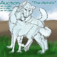 The Alpha's Auction (sold) by Gerundive