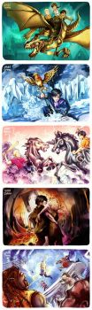 -redraw- All HOO Book Covers by jaaychaan