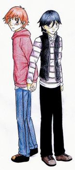 Tory and Colin holding hands by littlefrancis