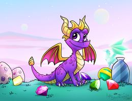 Ready, go, Spyro! by AylaStarDragon