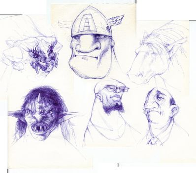 Todays sketches... by Norke