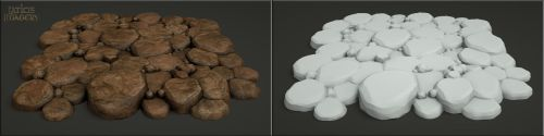 Laticis Imagery FREE Object - Rock Pavers by Laticis