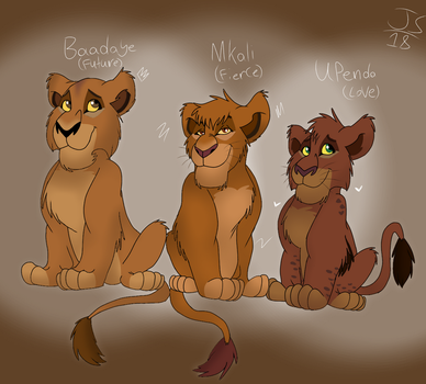 Cub Trio- (redesign) by Genocide-Knight