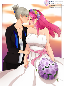 Alexandra and Alysa wedding by LawZilla